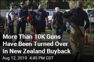 More Than 10,000 Guns Have Been Turned Over in New Zealand Buyback