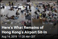 Here's What Remains of Hong Kong's Airport Sit-In
