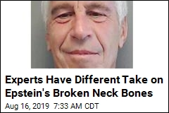 Experts Have Different Take on Epstein's Broken Neck Bones