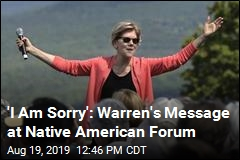 Elizabeth Warren Apologizes at Native American Forum