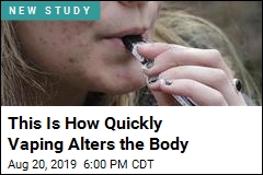 Vaping Alters the Body After Just 16 Puffs