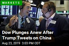 Dow Plunges Anew After Trump Tweets on China