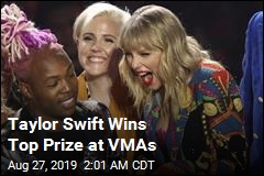 Taylor Swift Wins Top Prize at VMAs