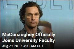 McConaughey Officially Joins University Faculty