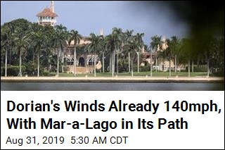 Dorian Now a Category 4, With Mar-a-Lago in Its Path