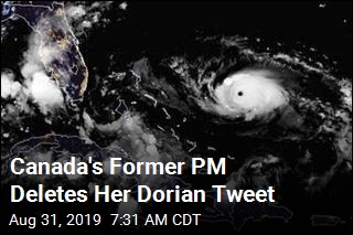 Ex-Canadian Leader Apologizes for Dorian Tweet