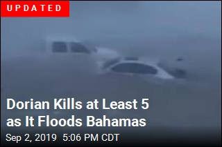 Homes Flooded, Cars Flung in the Bahamas