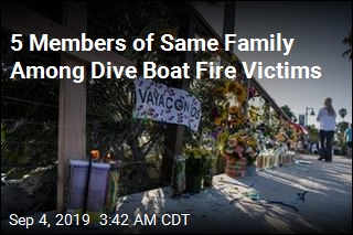 Dive Boat Victims Include Family of 5