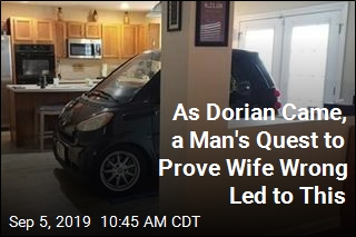 Hurricane Prep: Florida Man Parks Smart Car in Kitchen
