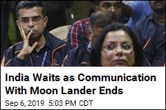 India Waits As Communication With Moon Lander Ends