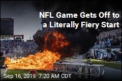 NFL Game Gets Off to a Literally Fiery Start