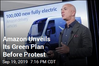 Amazon Unveils its Green Plan Before Protest