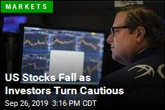US Stocks Fall as Investors Turn Cautious
