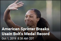 American Sprinter Breaks Usain Bolt's Medal Record