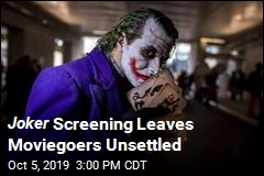 Weird Joker Fan Sends Moviegoers to the Exits
