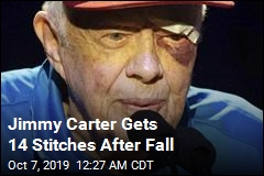 Jimmy Carter Has Black Eye, Stitches After Fall at Home