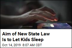 Aim of New State Law Is to Let Kids Sleep