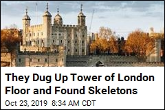 2 Skeletons Are Found Under Tower of London Floor