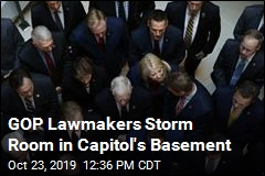 GOP Lawmakers Storm Room in Capitol's Basement
