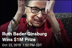 Ginsburg Wins $1M Prize, Will Give Money Away