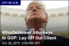 Whistleblower Attorneys to GOP: Lay Off Our Client