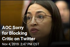Ocasio-Cortez Sorry for Blocking Critic on Twitter