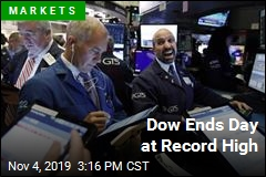 Dow Ends Day at Record High