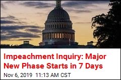 First Public Impeachment Hearings Coming in 7 Days