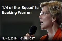 Elizabeth Warren Gets One 'Squad' Endorsement