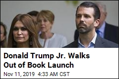 Donald Trump Jr. Walks Out of Book Launch