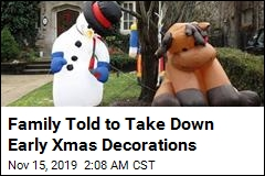 Family Told to Take Down Early Xmas Decorations
