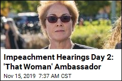 Ex-Ambassador to Speak in Day 2 of Impeachment Hearings