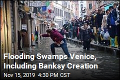Flood Covers Much of Venice, Including Banksy Artwork