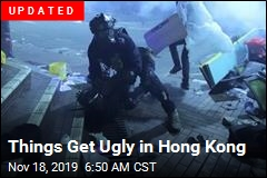 Hong Kong Cops Storm School Held by Protesters