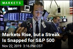 Markets Rise, but a Streak Is Snapped for S&P 500