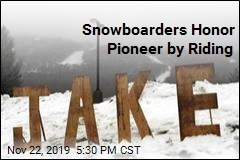 Snowboarders Honor Pioneer by Riding