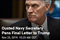 Ousted Navy Chief's Final Letter Takes Dig at Trump