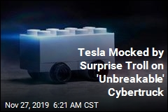 Tesla Mocked by Surprise Troll on 'Unbreakable' Cybertruck