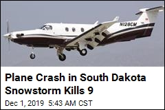 Snowy Plane Crash in South Dakota Kills 9, Injures 3