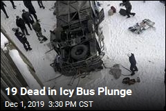 19 Dead in Icy Bus Plunge