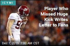 Player Who Missed Huge Kick Writes Letter to Fans