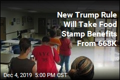 668K to Lose Food Stamp Benefits Under New Trump Rule