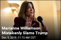 Marianne Williamson Mistakenly Slams Trump