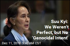 Suu Kyi: We Weren't Perfect, but No 'Genocidal Intent'
