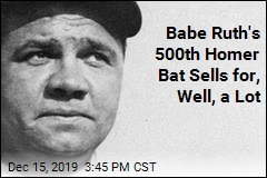 Babe Ruth's 500th Homer Bat Sells for, Well, a Lot