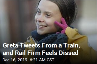 Greta Tweets From a Train, and Rail Firm Feels Dissed