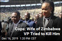 Cops: Wife of Zimbabwe VP Tried to Kill Him