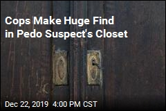 Cops Make Huge Find in Pedo Suspect's Closet