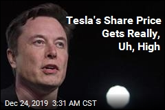 Tesla Share Price Gets Really High