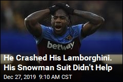 He Crashed His Lamborghini. His Snowman Suit Didn't Help